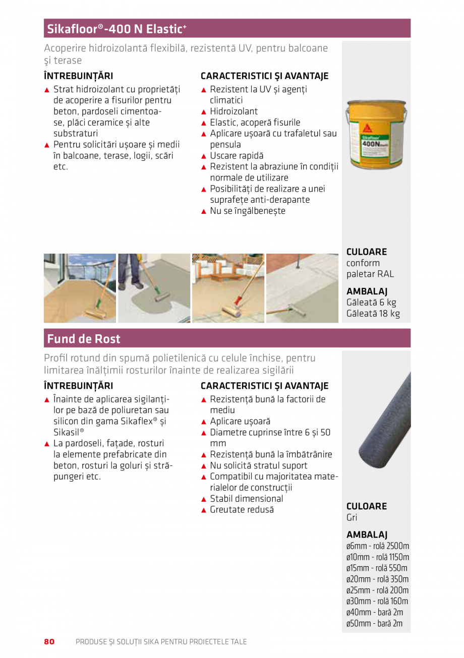Pagina 80 - Produse si solutii Sika pentru proiectele tale  Catalog, brosura Romana A PENTRU...
