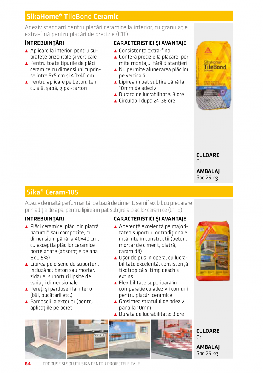Pagina 84 - Produse si solutii Sika pentru proiectele tale  Catalog, brosura Romana are...