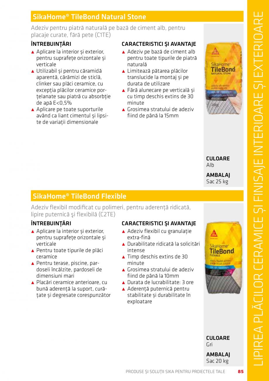 Pagina 85 - Produse si solutii Sika pentru proiectele tale  Catalog, brosura Romana stența...