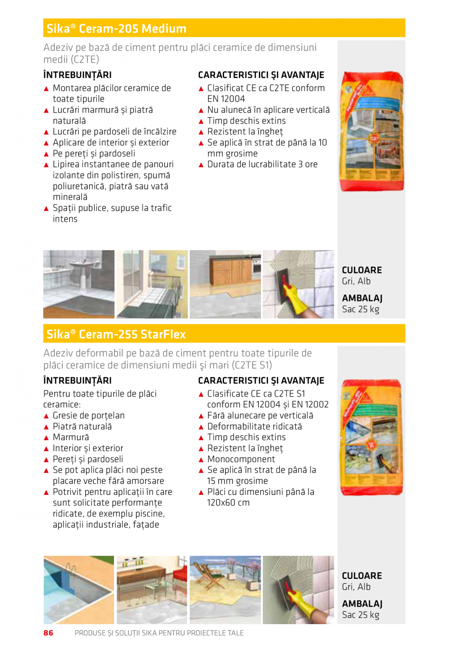 Pagina 86 - Produse si solutii Sika pentru proiectele tale  Catalog, brosura Romana SIKA PENTRU...