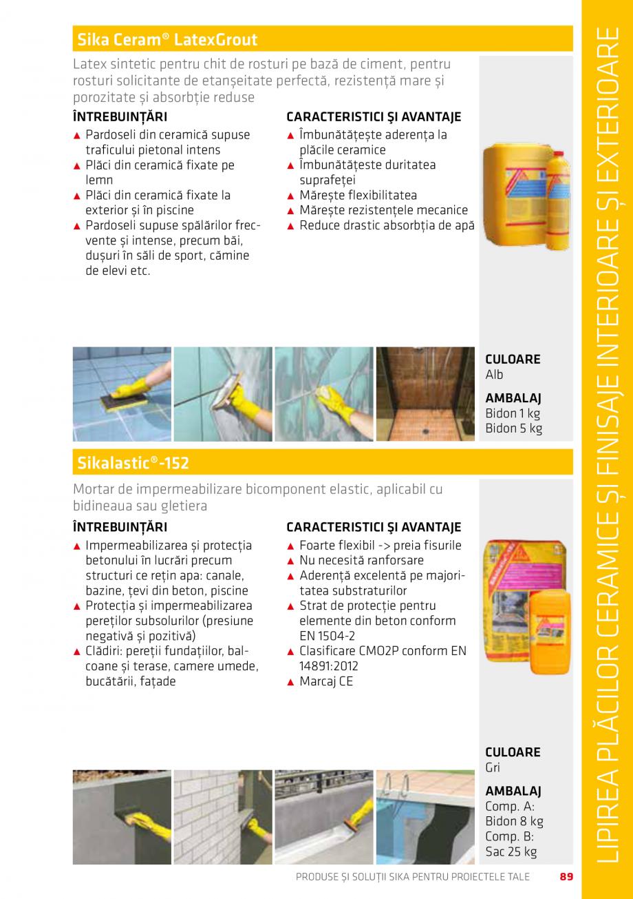 Pagina 89 - Produse si solutii Sika pentru proiectele tale  Catalog, brosura Romana aplicat prin...