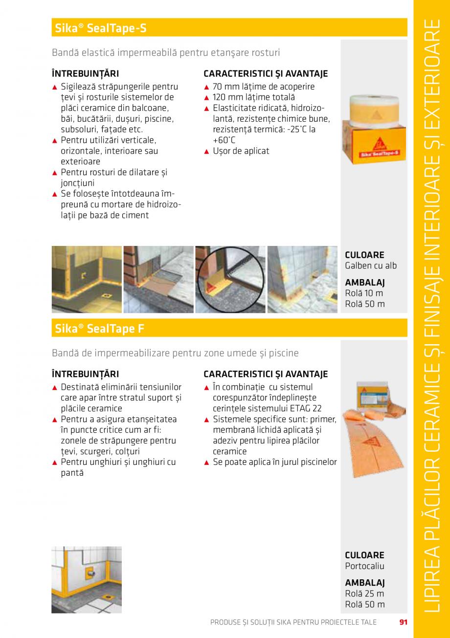 Pagina 91 - Produse si solutii Sika pentru proiectele tale  Catalog, brosura Romana Face parte din...