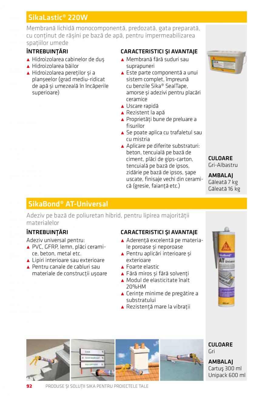 Pagina 92 - Produse si solutii Sika pentru proiectele tale  Catalog, brosura Romana segregări,...