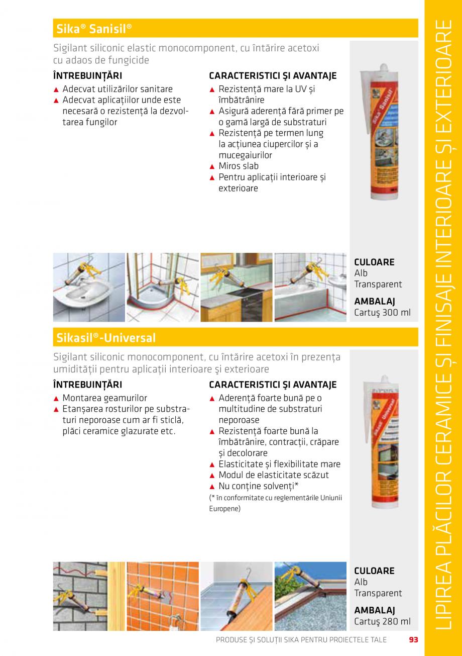 Pagina 93 - Produse si solutii Sika pentru proiectele tale  Catalog, brosura Romana i ˹˹ Nu are un...