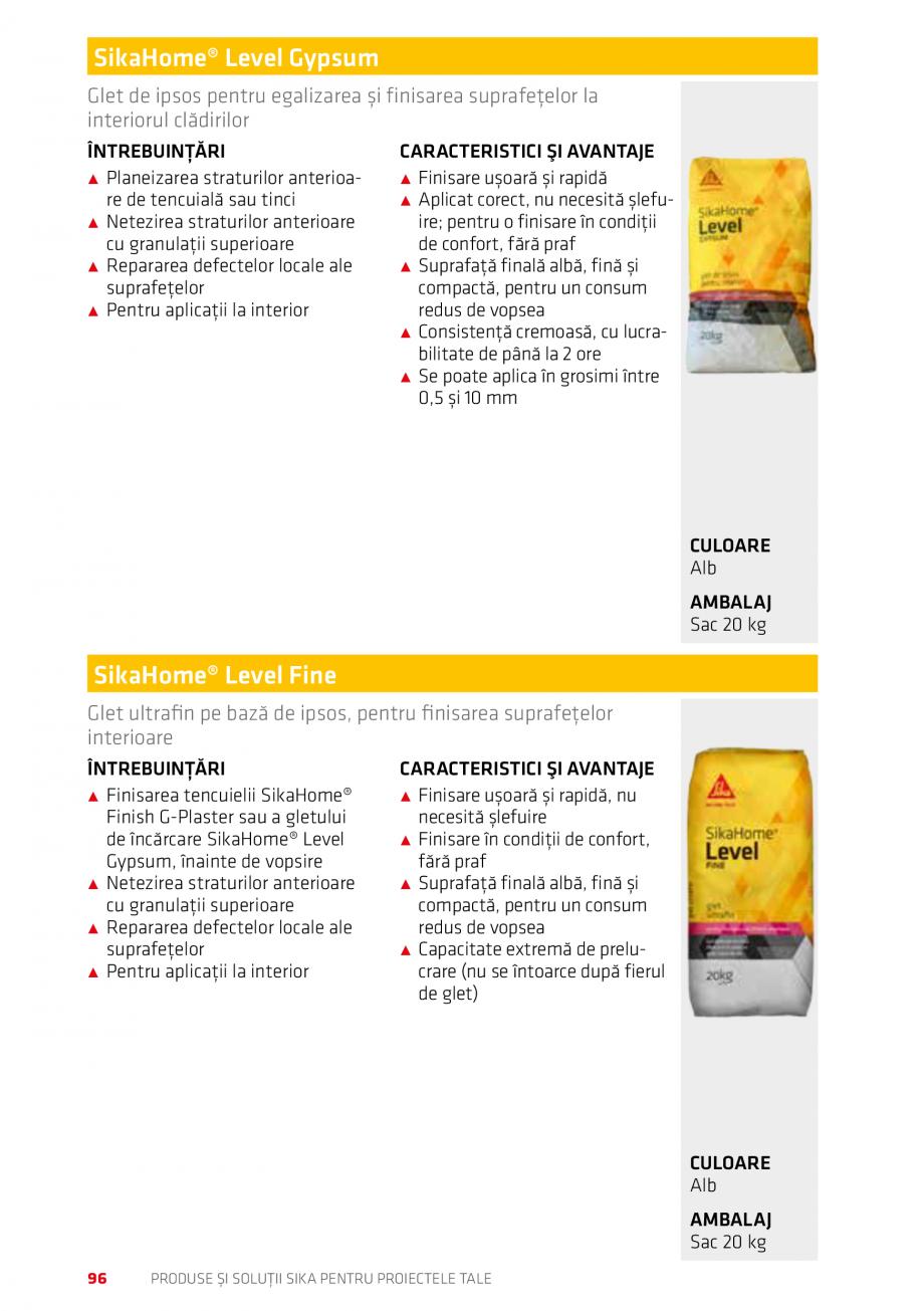 Pagina 96 - Produse si solutii Sika pentru proiectele tale  Catalog, brosura Romana ngere a apei:...