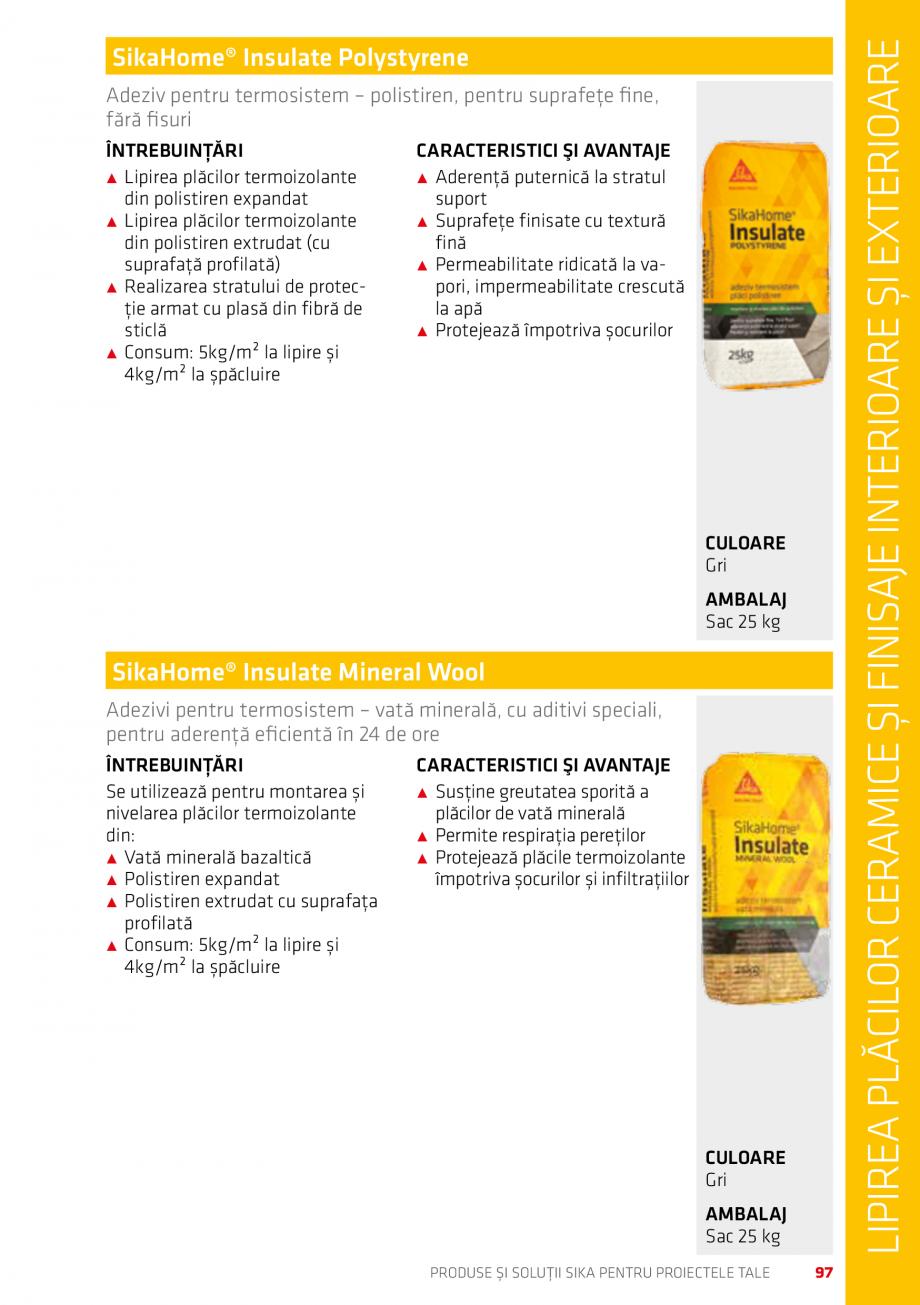 Pagina 97 - Produse si solutii Sika pentru proiectele tale  Catalog, brosura Romana aplicat într-un...