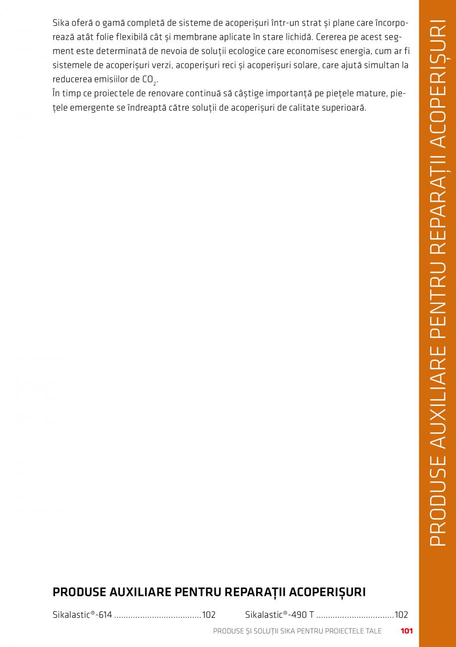 Pagina 101 - Produse si solutii Sika pentru proiectele tale  Catalog, brosura Romana r temperaturi...