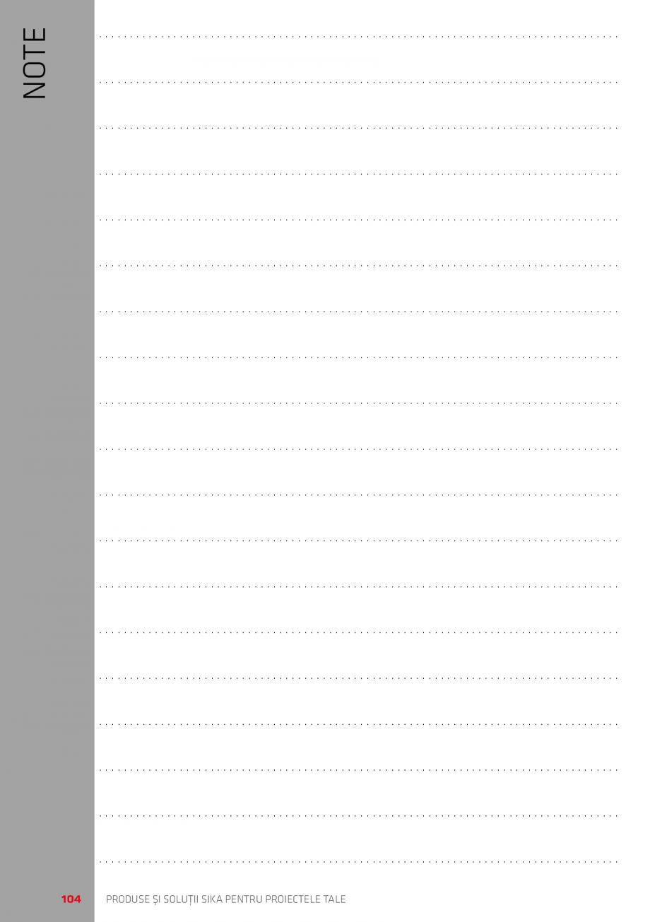 Pagina 104 - Produse si solutii Sika pentru proiectele tale  Catalog, brosura Romana nt decofrare...