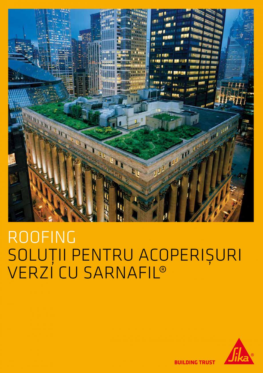 Pagina 1 - Solutii pentru acoperisuri verzi cu SARNAFIL  Catalog, brosura Romana ROOFING SOLUȚII...
