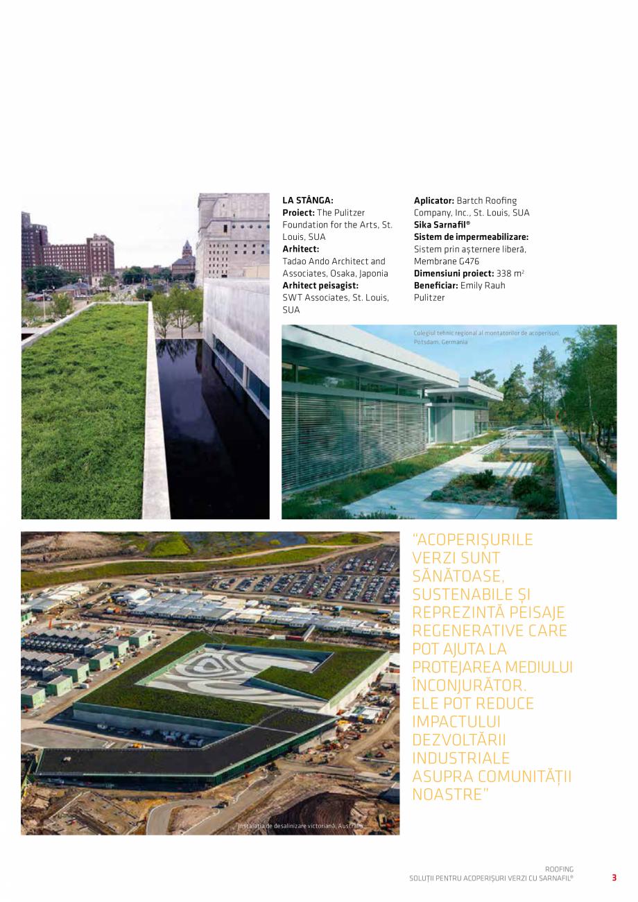 Pagina 3 - Solutii pentru acoperisuri verzi cu SARNAFIL  Catalog, brosura Romana ră a fi înlocuite...