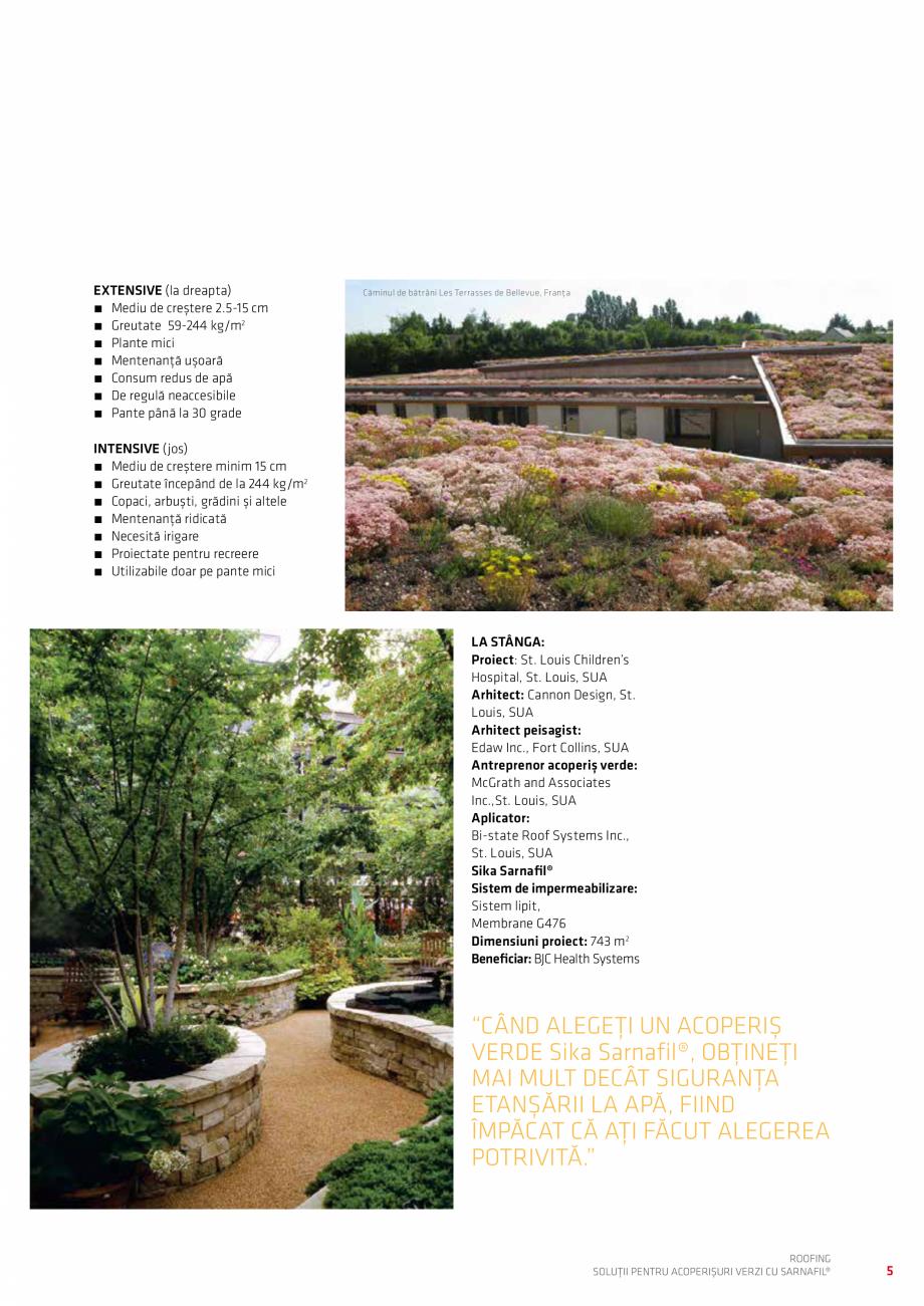 Pagina 5 - Solutii pentru acoperisuri verzi cu SARNAFIL  Catalog, brosura Romana t că ați făcut...