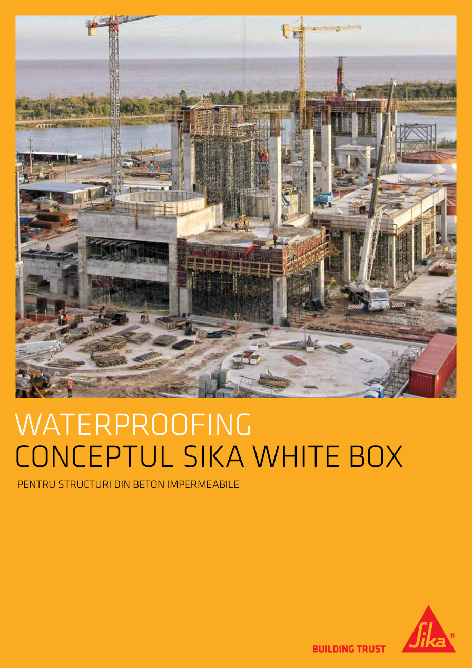 Pagina 1 - Conceptul Sika White Box pentru structuri din beton impermeabile  Catalog, brosura Romana...