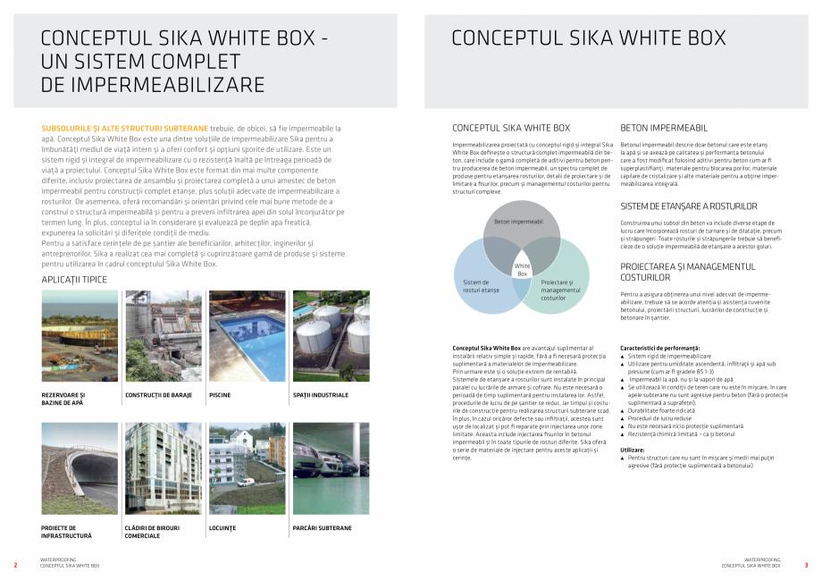 Pagina 2 - Conceptul Sika White Box pentru structuri din beton impermeabile  Catalog, brosura Romana...