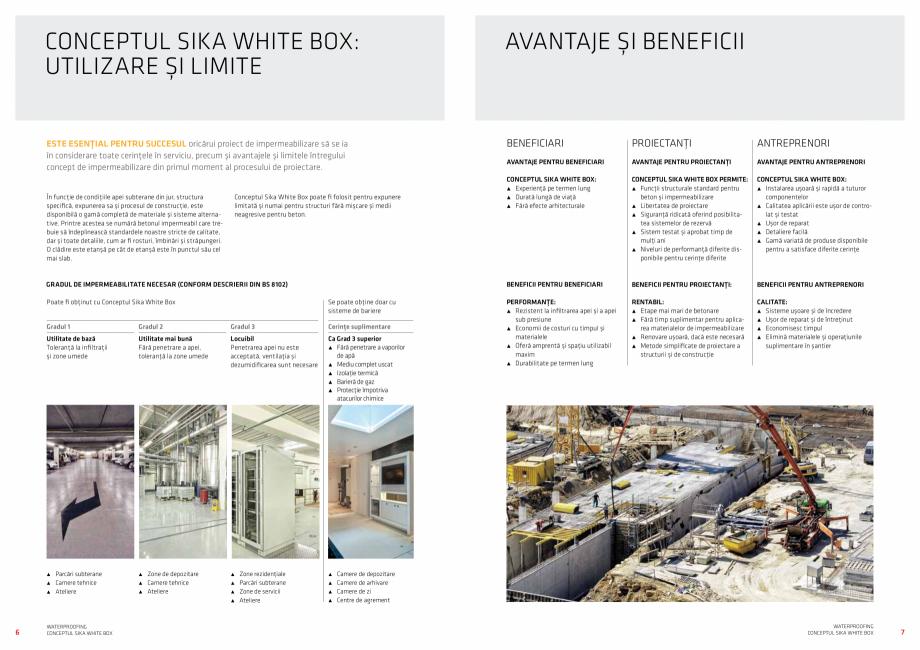 Pagina 4 - Conceptul Sika White Box pentru structuri din beton impermeabile  Catalog, brosura Romana...