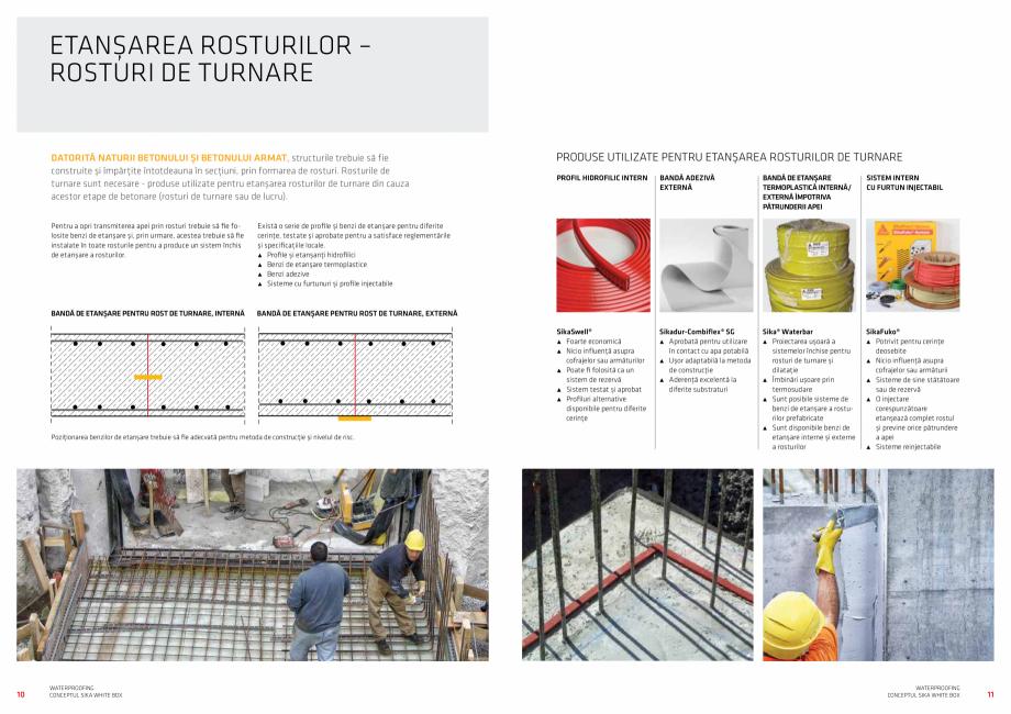 Pagina 6 - Conceptul Sika White Box pentru structuri din beton impermeabile  Catalog, brosura Romana...