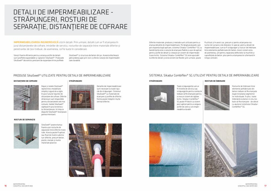 Pagina 9 - Conceptul Sika White Box pentru structuri din beton impermeabile  Catalog, brosura Romana...