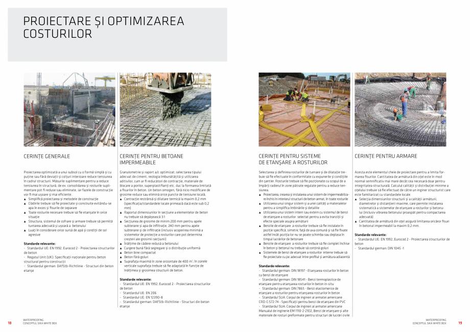 Pagina 10 - Conceptul Sika White Box pentru structuri din beton impermeabile  Catalog, brosura...