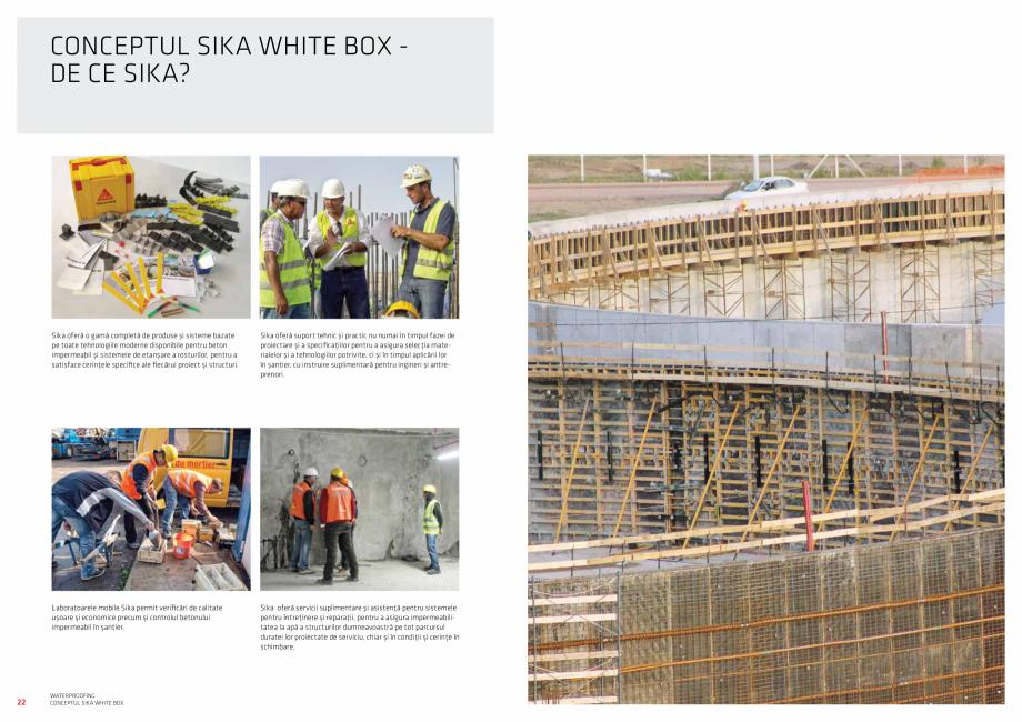 Pagina 12 - Conceptul Sika White Box pentru structuri din beton impermeabile  Catalog, brosura...