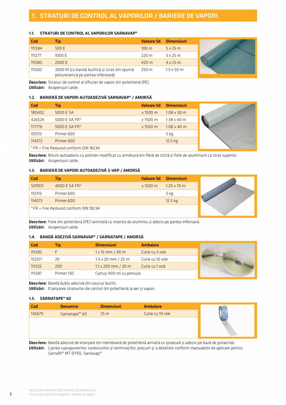 Pagina 6 - Accesorii pentru sisteme de acoperis  Catalog, brosura Romana � Piesă prefabricată cu...