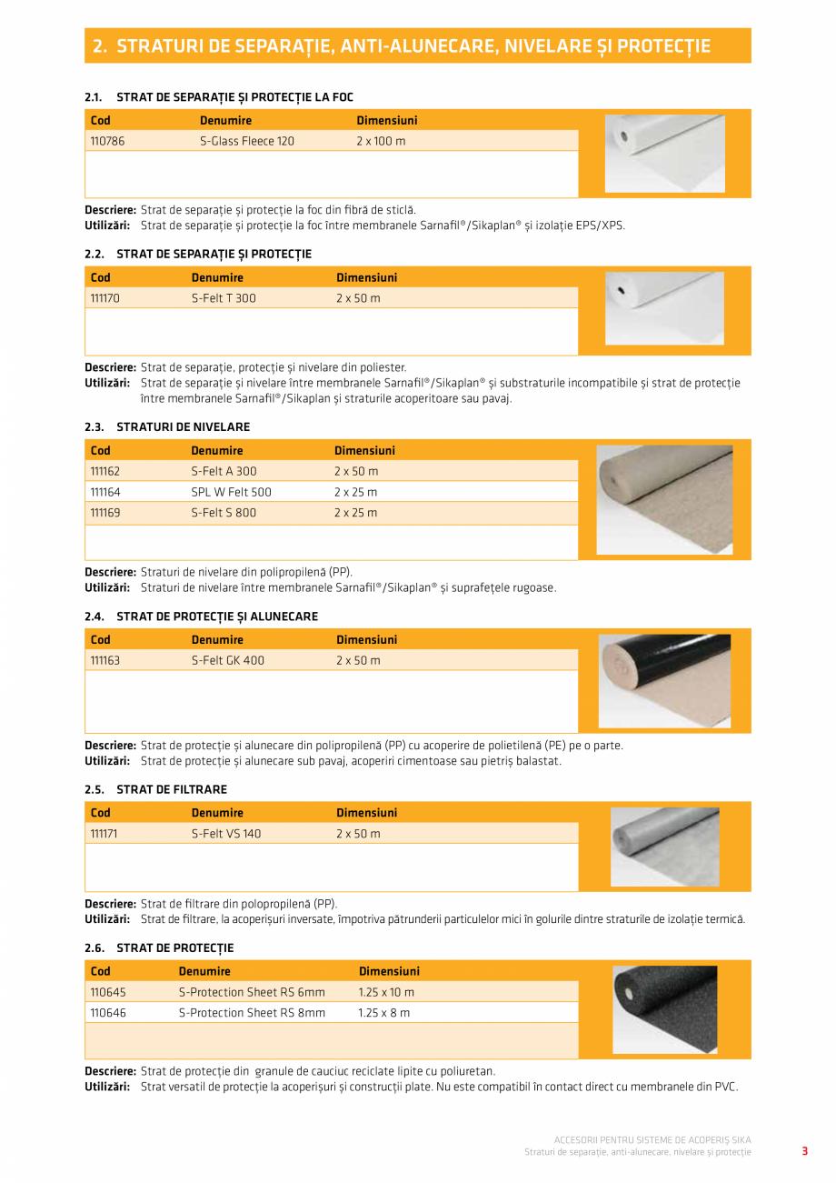 Pagina 7 - Accesorii pentru sisteme de acoperis  Catalog, brosura Romana .18. PVC Pipe Flashing...