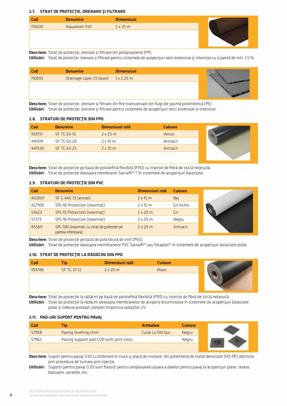 Pagina 8 - Accesorii pentru sisteme de acoperis  Catalog, brosura Romana ��� 11  4.26. PVC...
