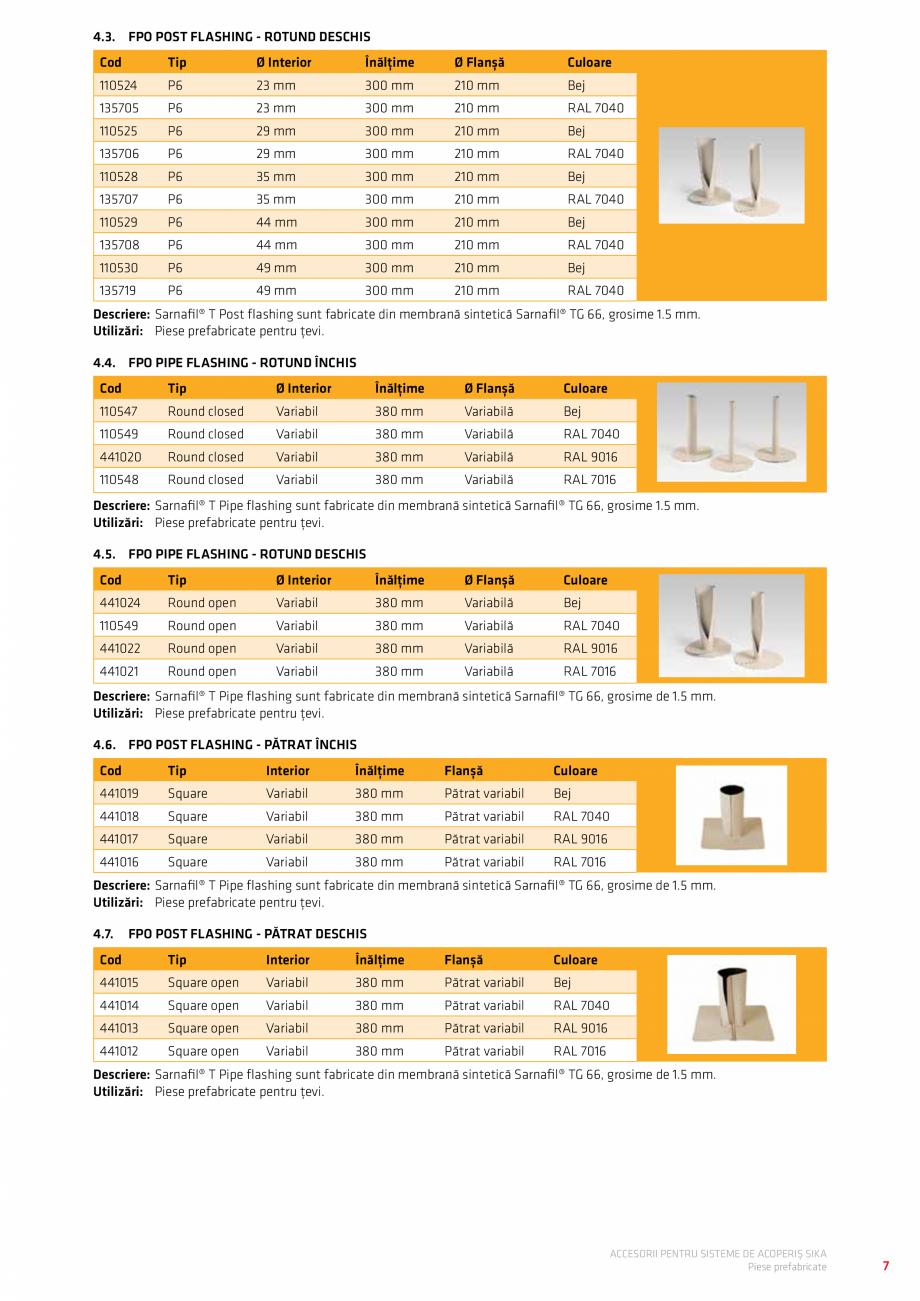 Pagina 11 - Accesorii pentru sisteme de acoperis  Catalog, brosura Romana ri – PVC Overflows...