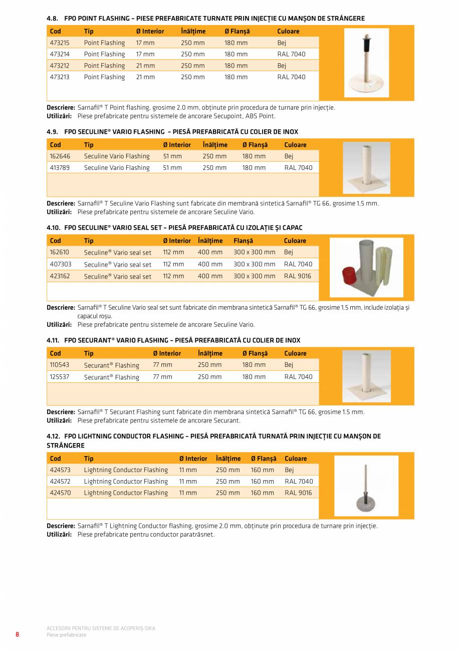 Pagina 12 - Accesorii pentru sisteme de acoperis  Catalog, brosura Romana ��� 6.21. Piesă anti...