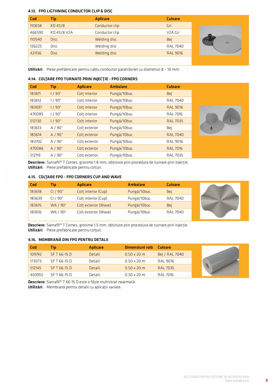Pagina 13 - Accesorii pentru sisteme de acoperis  Catalog, brosura Romana ameră de inspecție cu...
