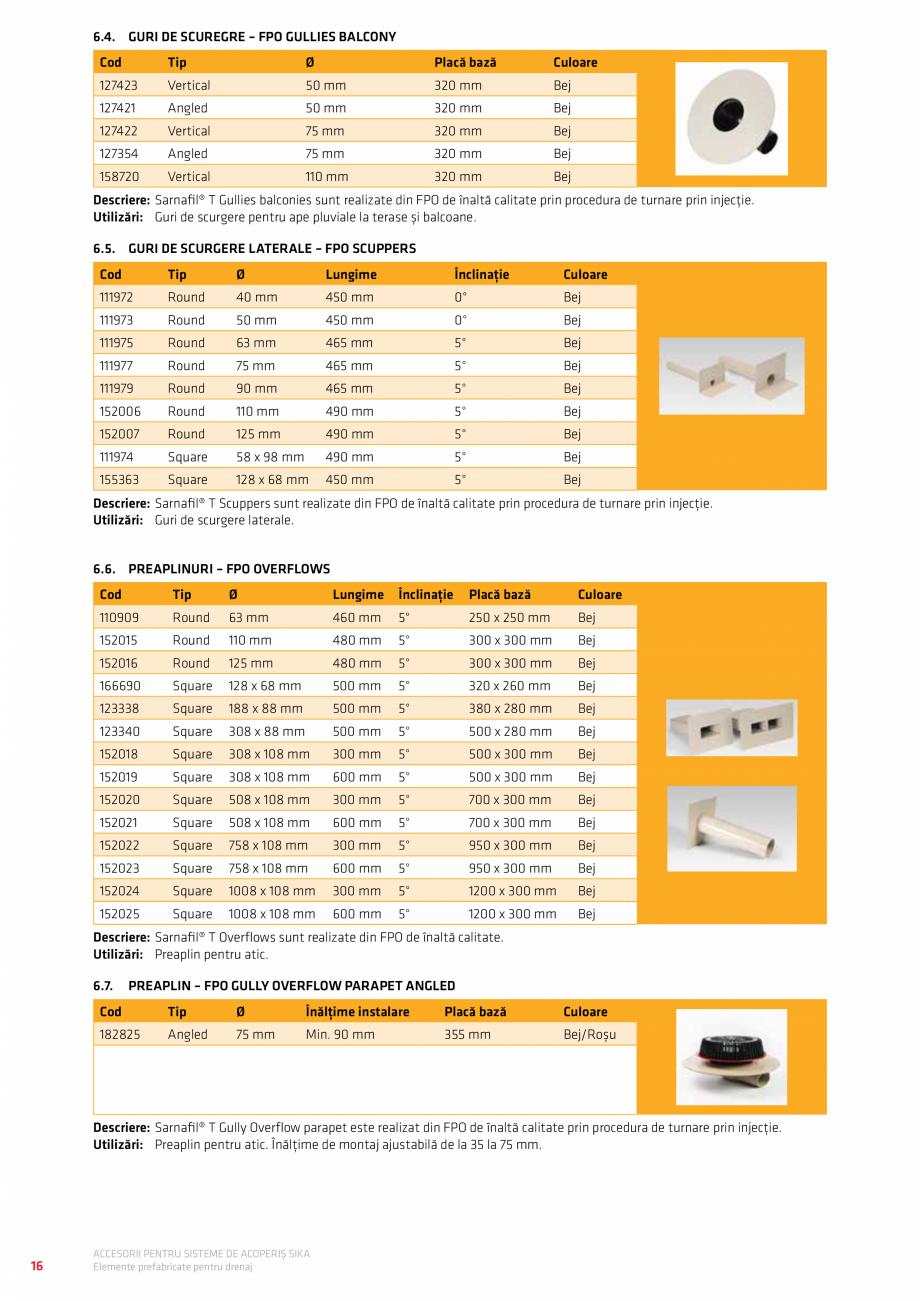 Pagina 20 - Accesorii pentru sisteme de acoperis  Catalog, brosura Romana  30 31 31 31 31 31 32 32...