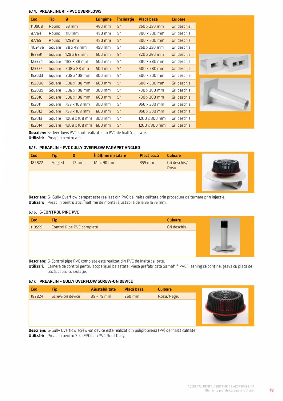 Pagina 23 - Accesorii pentru sisteme de acoperis  Catalog, brosura Romana �� 14.Sigilanți / Amorse...