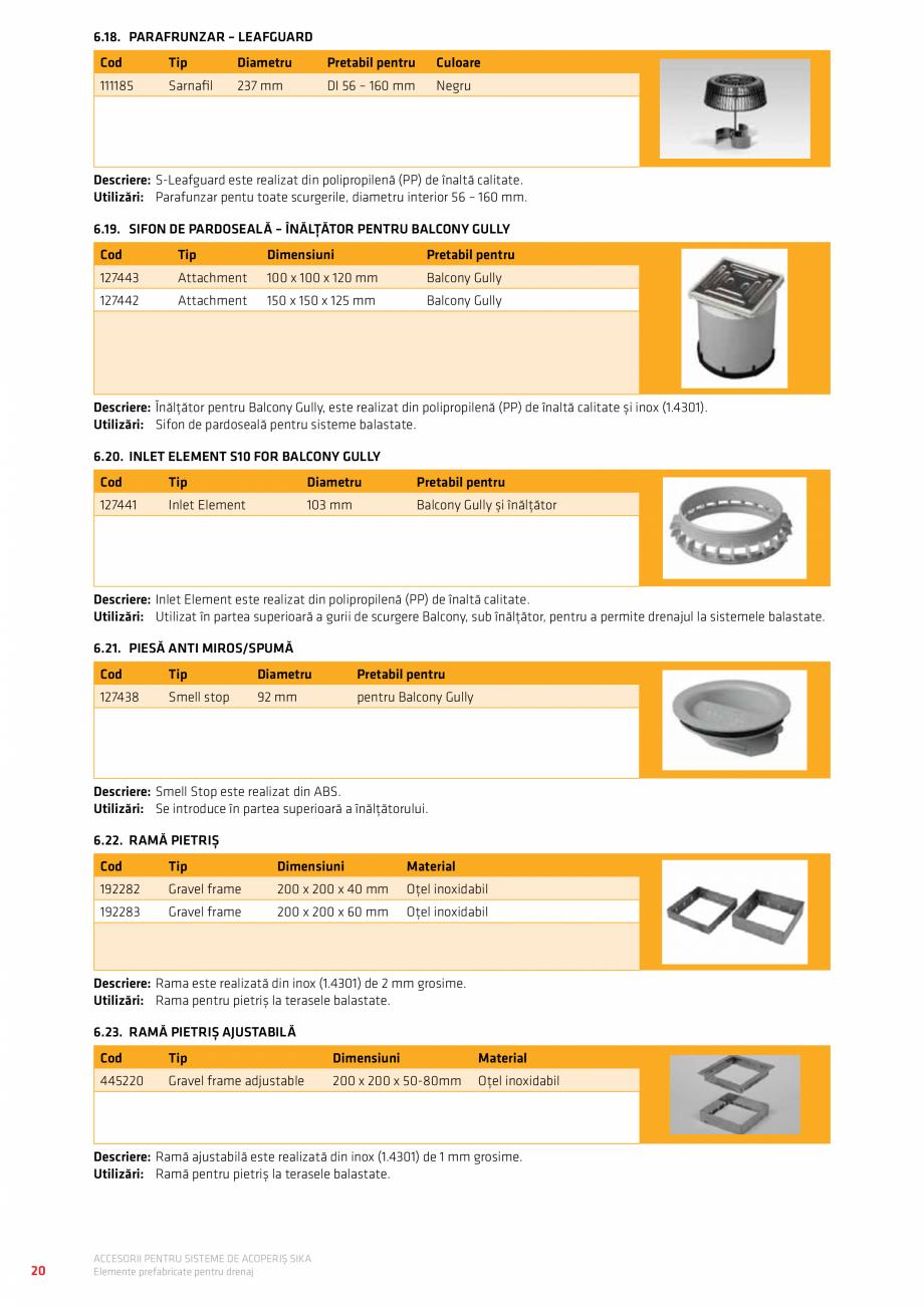 Pagina 24 - Accesorii pentru sisteme de acoperis  Catalog, brosura Romana...