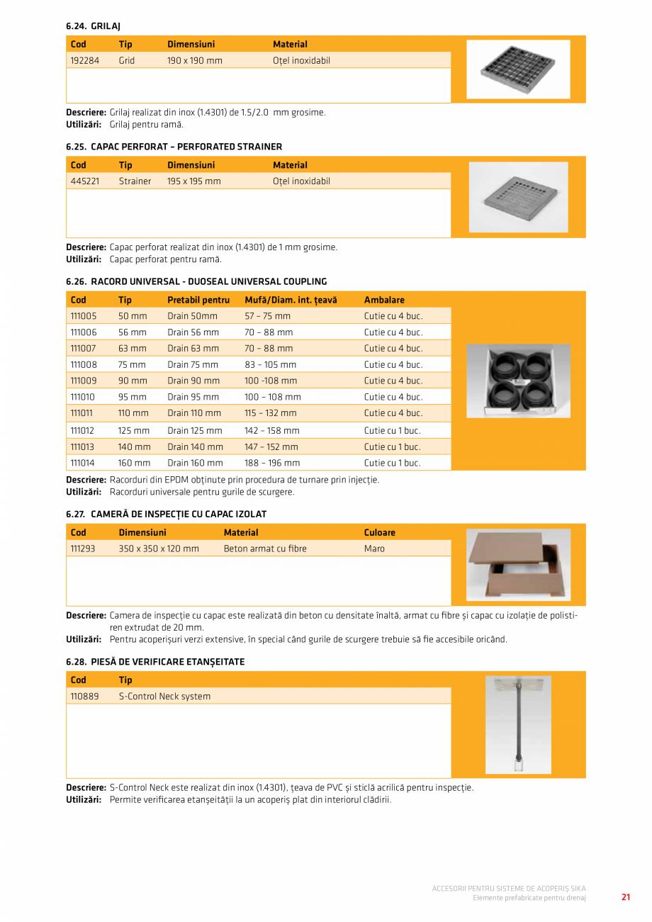 Pagina 25 - Accesorii pentru sisteme de acoperis  Catalog, brosura Romana acoperișuri. Pe baza...