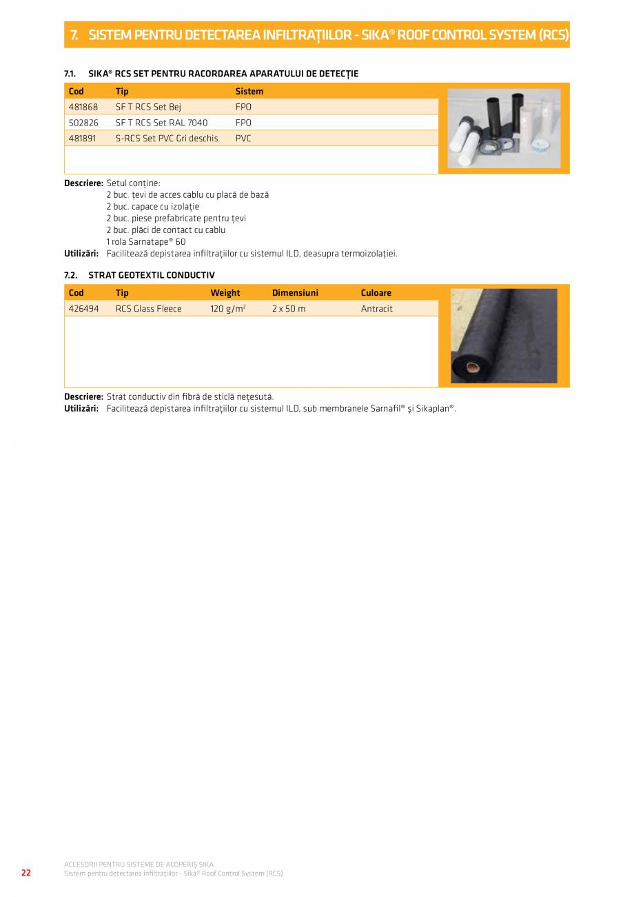 Pagina 26 - Accesorii pentru sisteme de acoperis  Catalog, brosura Romana  5000 E SA FR  ≥ 1500 m ...