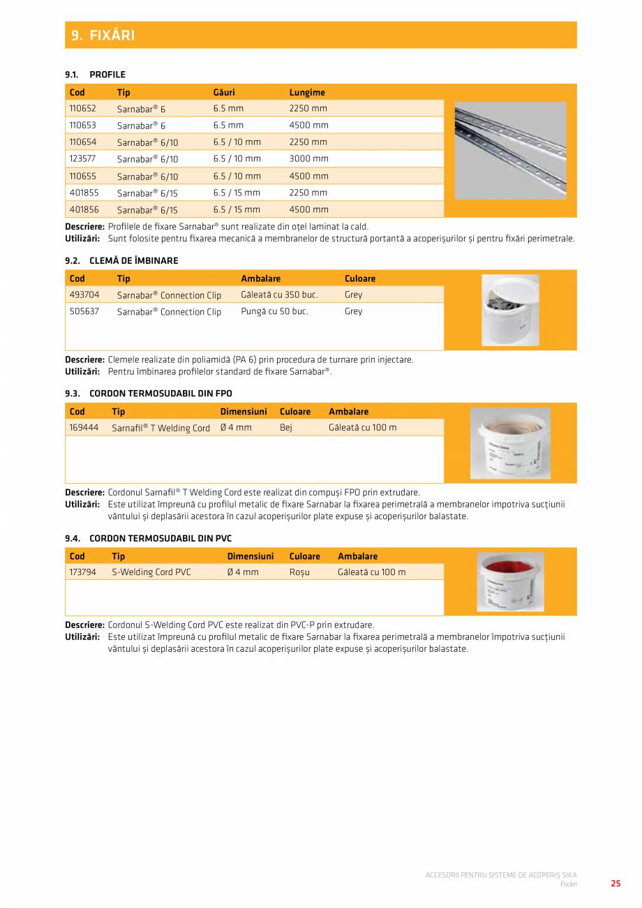 Pagina 29 - Accesorii pentru sisteme de acoperis  Catalog, brosura Romana E FILTRARE Cod  Denumire  ...