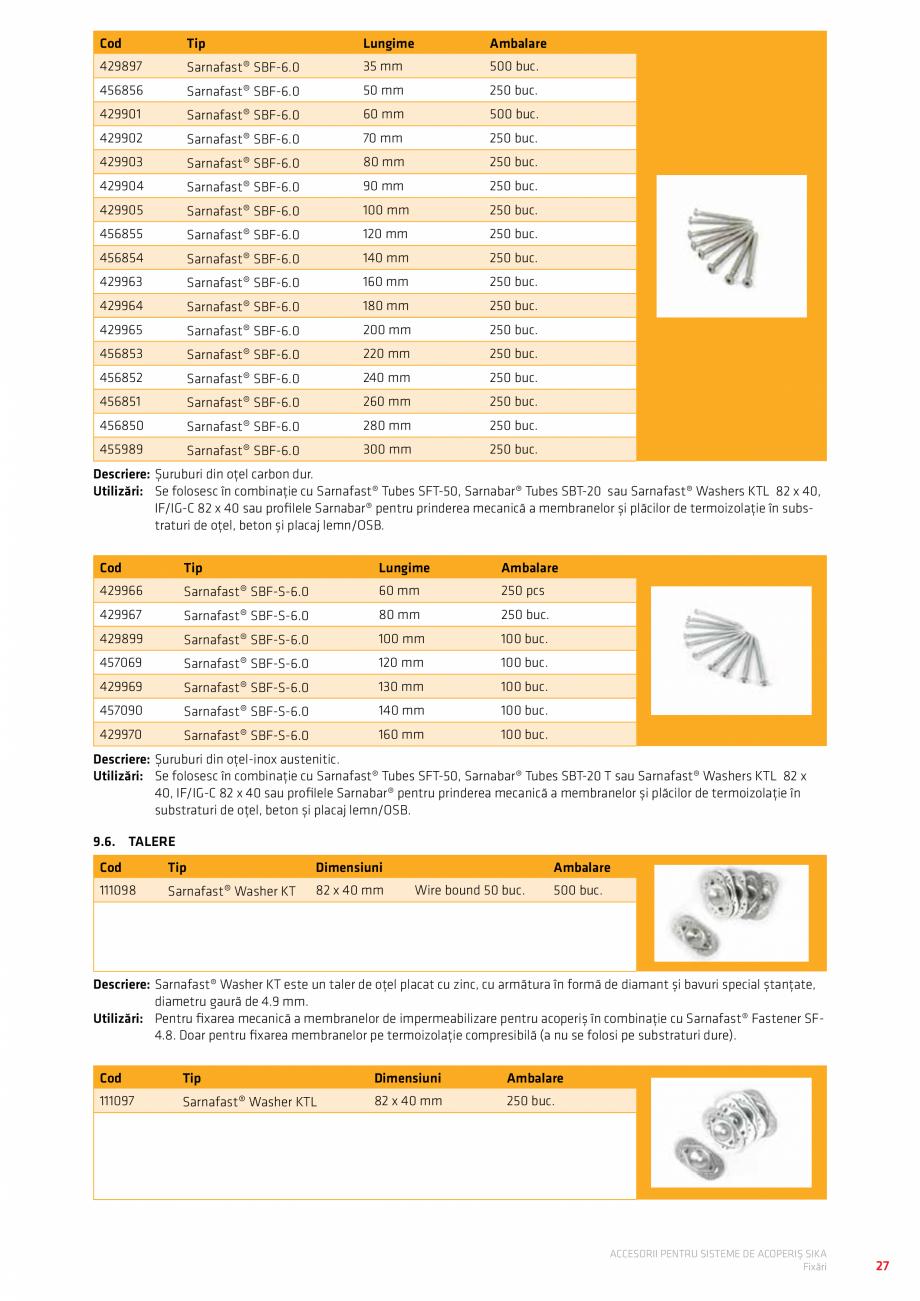 Pagina 31 - Accesorii pentru sisteme de acoperis  Catalog, brosura Romana   Gri închis  53623 ...