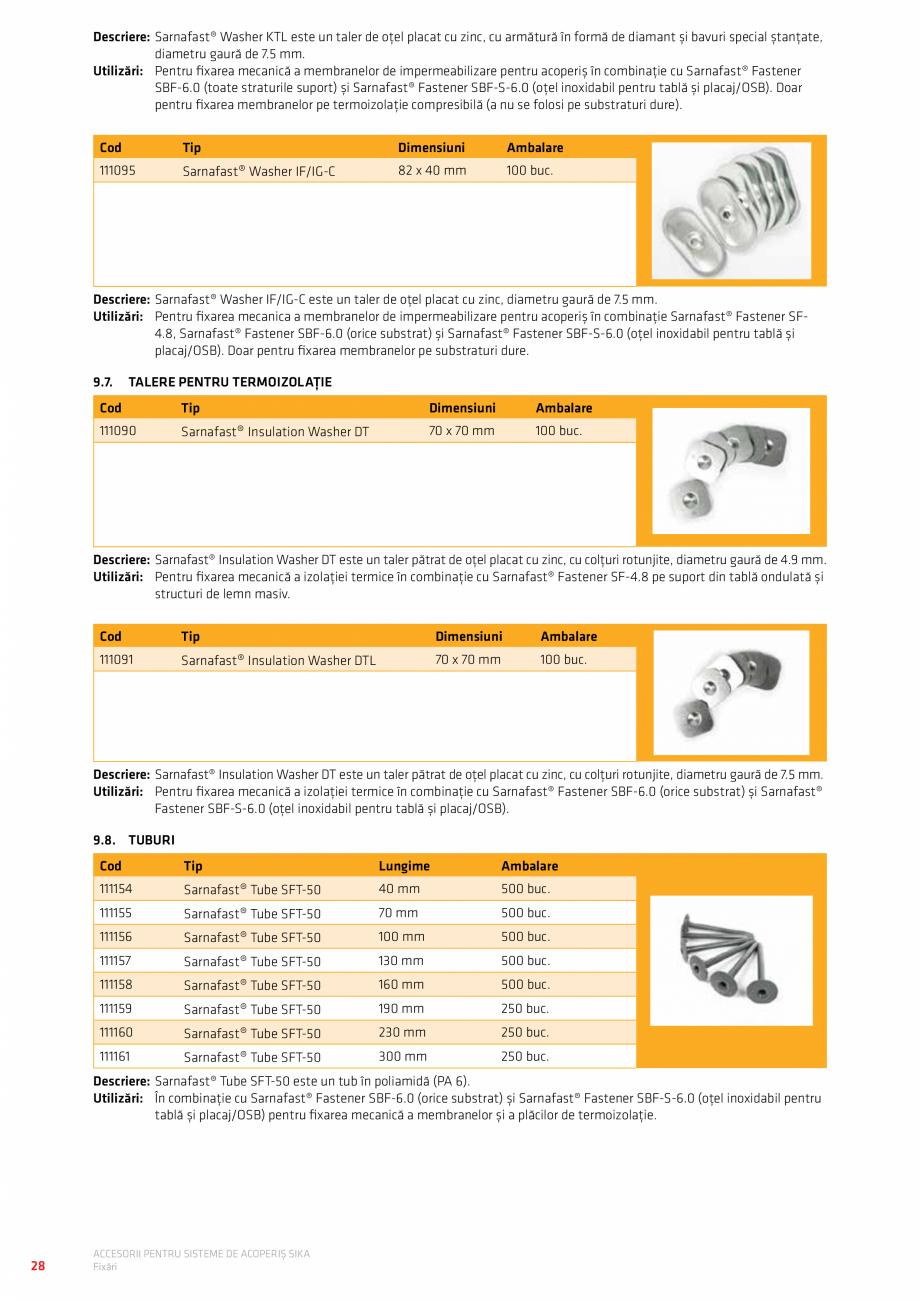 Pagina 32 - Accesorii pentru sisteme de acoperis  Catalog, brosura Romana port pad 1/20 with joint...