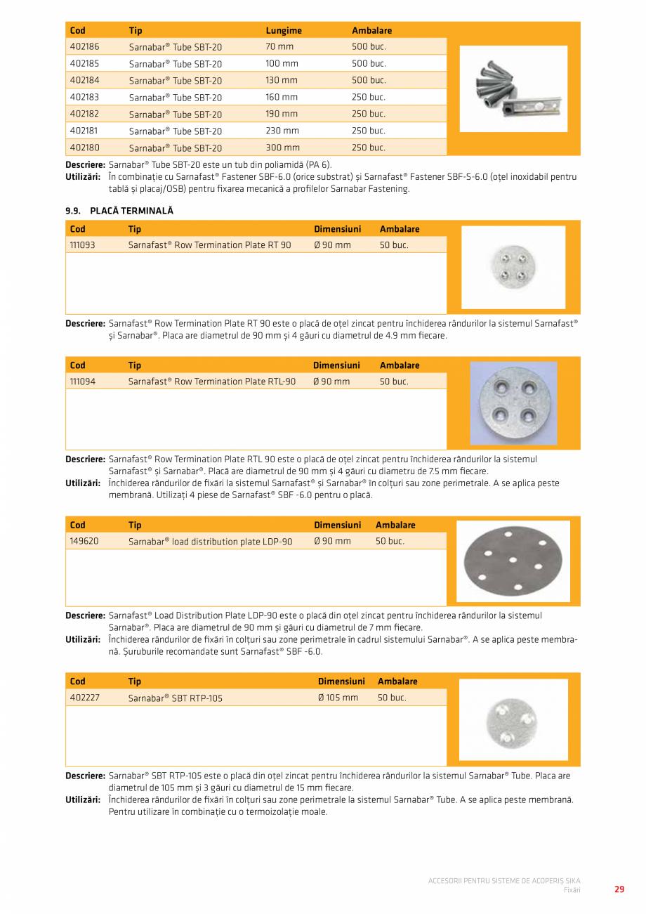 Pagina 33 - Accesorii pentru sisteme de acoperis  Catalog, brosura Romana EMBRANA WALKWAY DIN FPO...