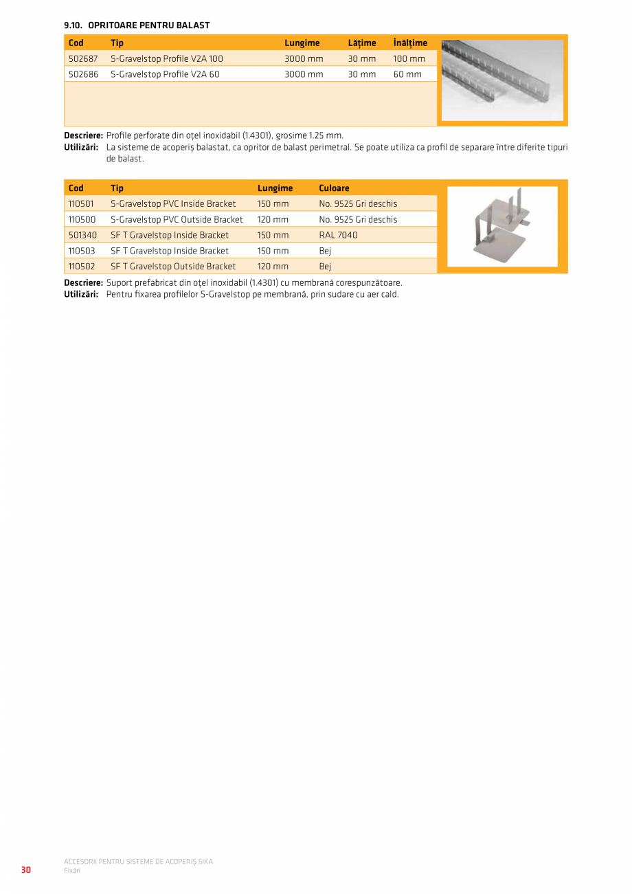 Pagina 34 - Accesorii pentru sisteme de acoperis  Catalog, brosura Romana utie cu 15 buc.  Gri ...
