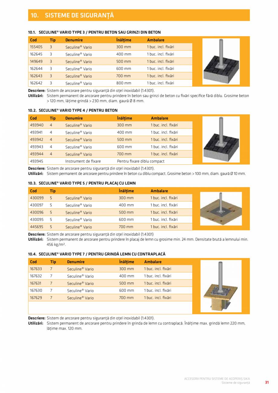 Pagina 35 - Accesorii pentru sisteme de acoperis  Catalog, brosura Romana �  Culoare  110461  V 80  ...