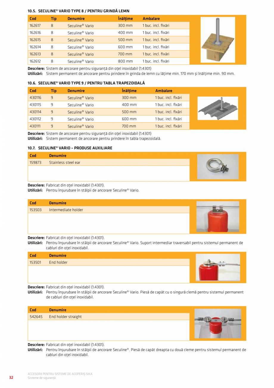 Pagina 36 - Accesorii pentru sisteme de acoperis  Catalog, brosura Romana  mm  Bej  110460  V 165 ...