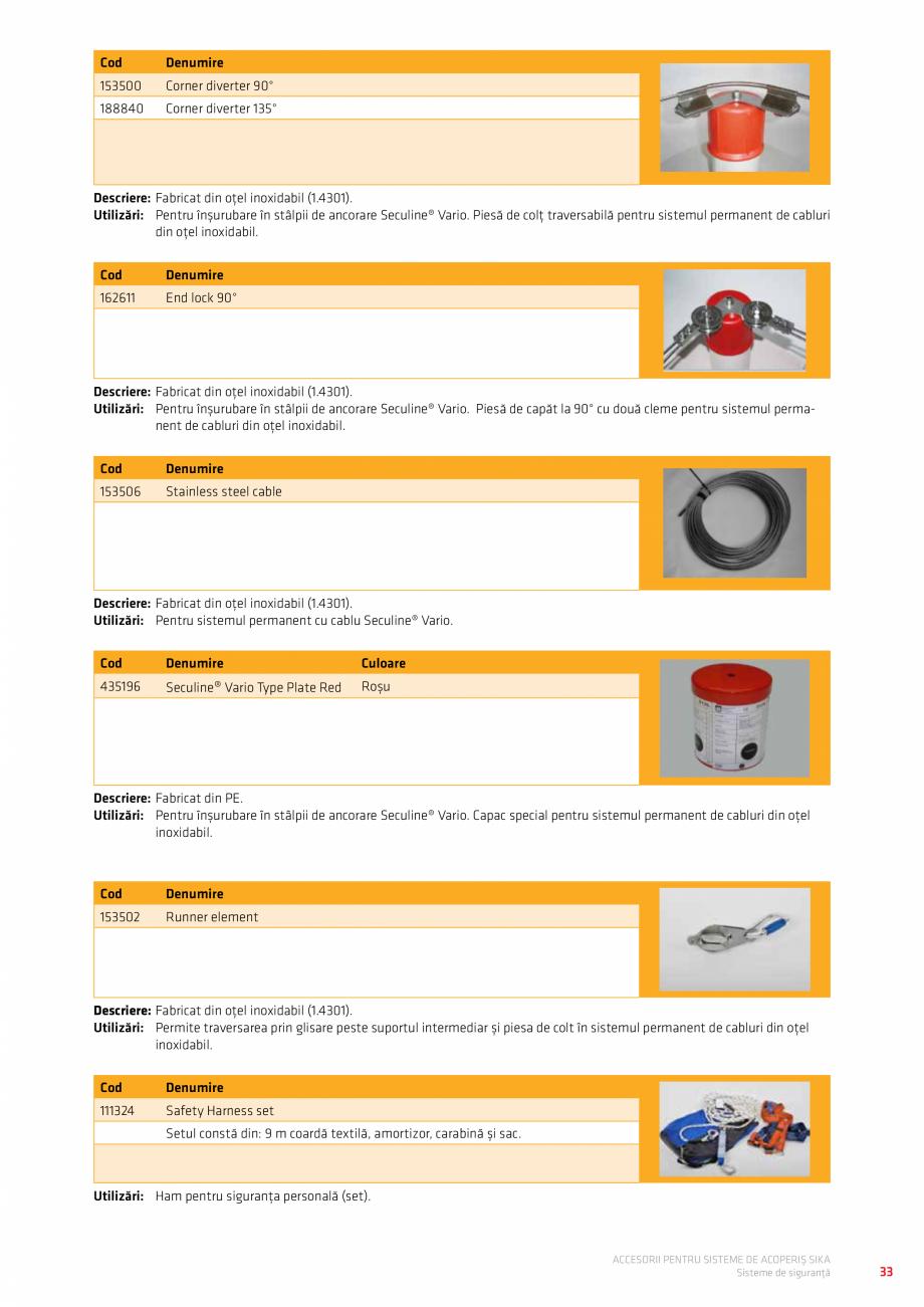 Pagina 37 - Accesorii pentru sisteme de acoperis  Catalog, brosura Romana unt fabricate din...