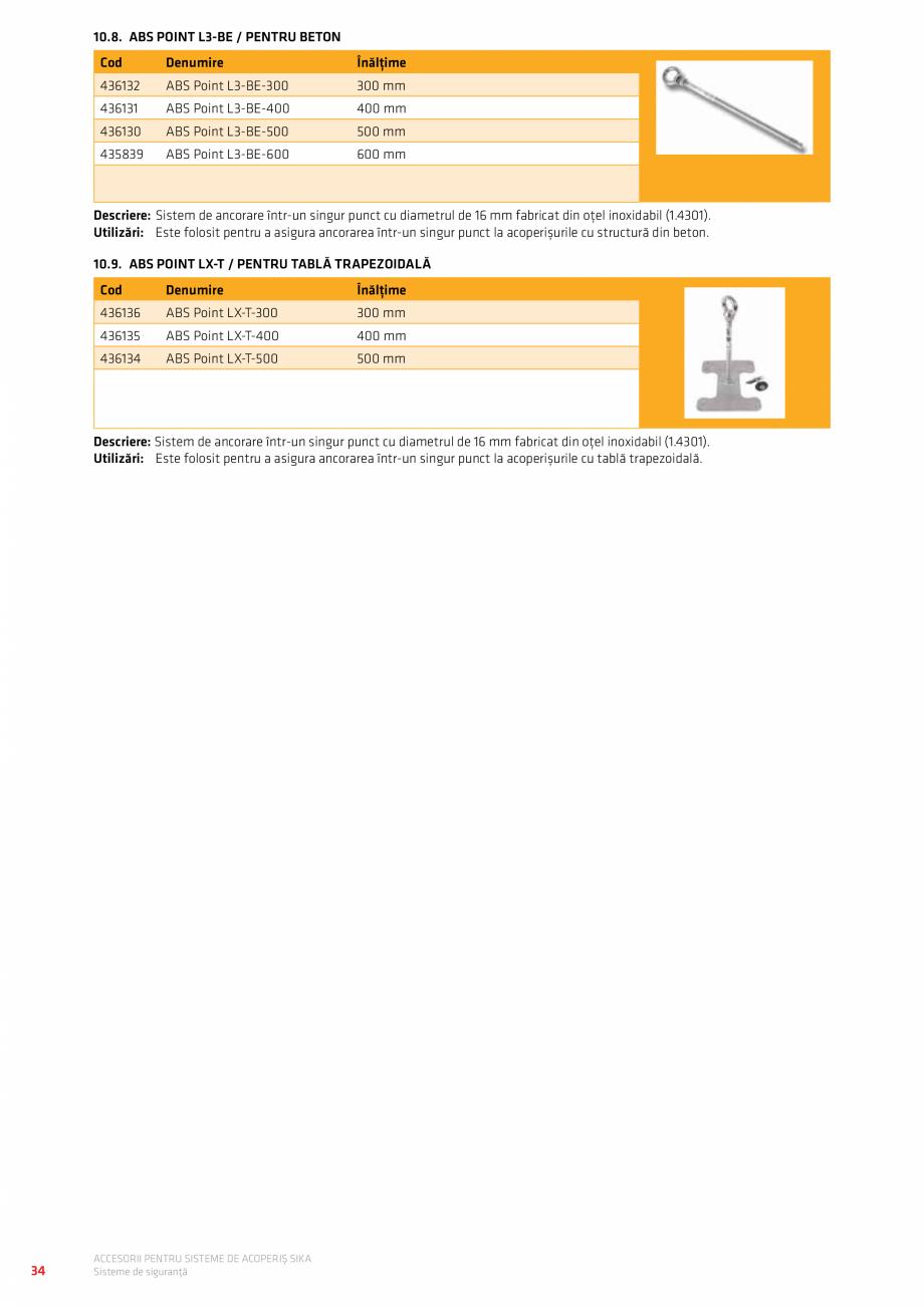 Pagina 38 - Accesorii pentru sisteme de acoperis  Catalog, brosura Romana 80 mm  Variabilă  Bej ...