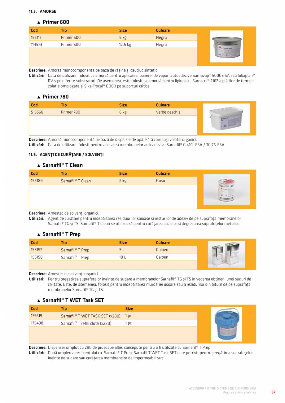 Pagina 41 - Accesorii pentru sisteme de acoperis  Catalog, brosura Romana  SEAL SET – PIESĂ...