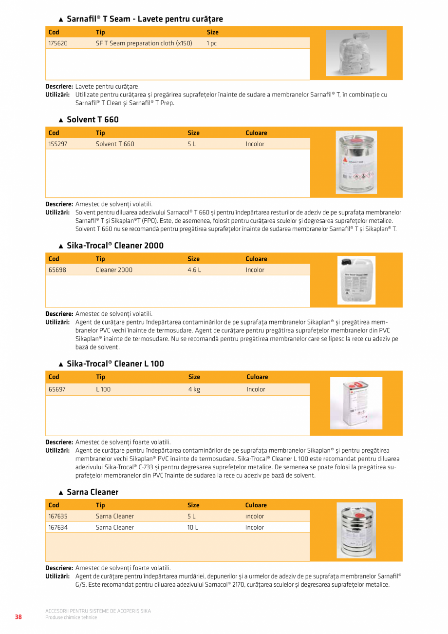 Pagina 42 - Accesorii pentru sisteme de acoperis  Catalog, brosura Romana  Securant. 4.12. FPO...