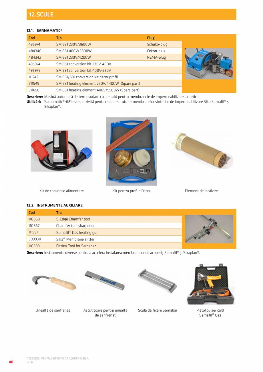 Pagina 44 - Accesorii pentru sisteme de acoperis  Catalog, brosura Romana interior (Cup) ...