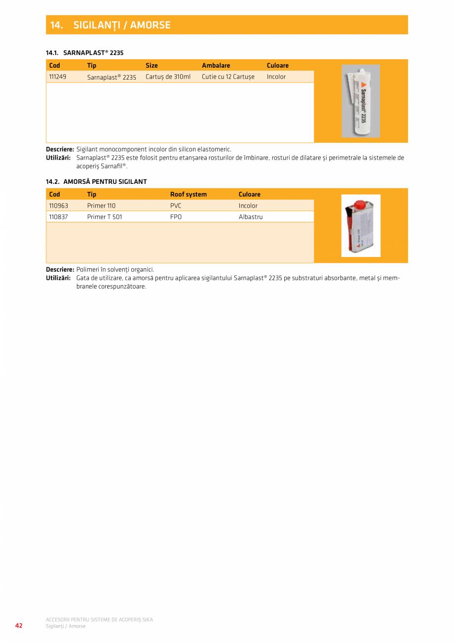 Pagina 46 - Accesorii pentru sisteme de acoperis  Catalog, brosura Romana i deschis  110446  R 1/165...