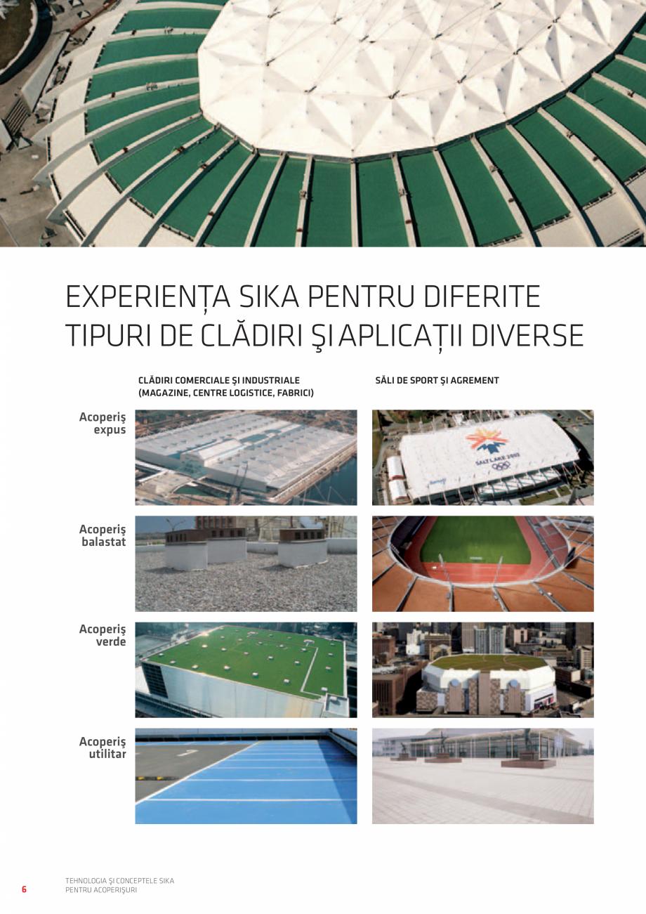 Pagina 6 - Tehnologia si conceptele SIKA pentru acoperisuri  Catalog, brosura Romana DE CLĂDIRI ŞI...