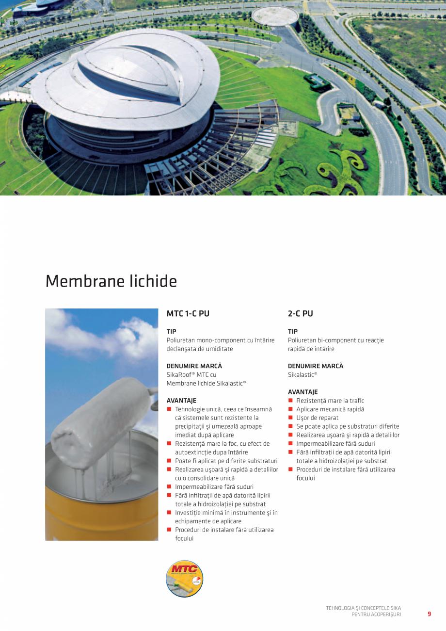 Pagina 9 - Tehnologia si conceptele SIKA pentru acoperisuri  Catalog, brosura Romana nimă în...