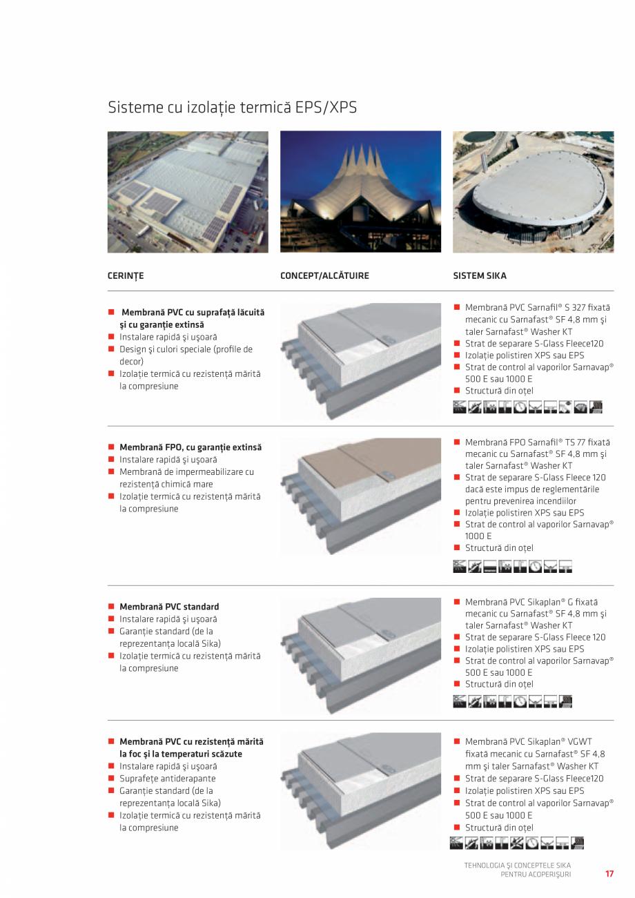 Pagina 17 - Tehnologia si conceptele SIKA pentru acoperisuri  Catalog, brosura Romana � la rece – ...