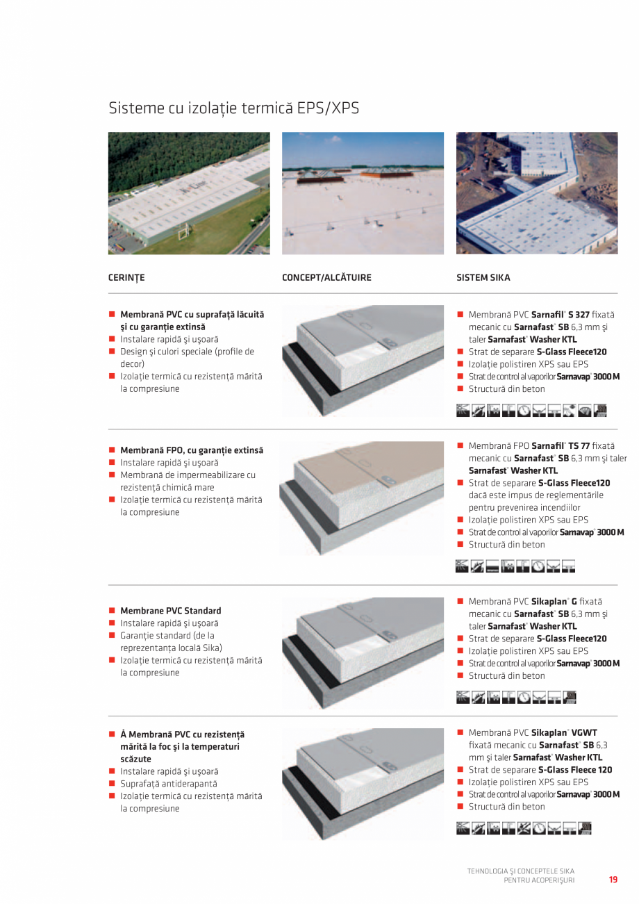 Pagina 19 - Tehnologia si conceptele SIKA pentru acoperisuri  Catalog, brosura Romana ��Strat de ...